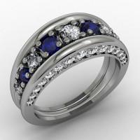 Blue Sapphire Wedding Ring