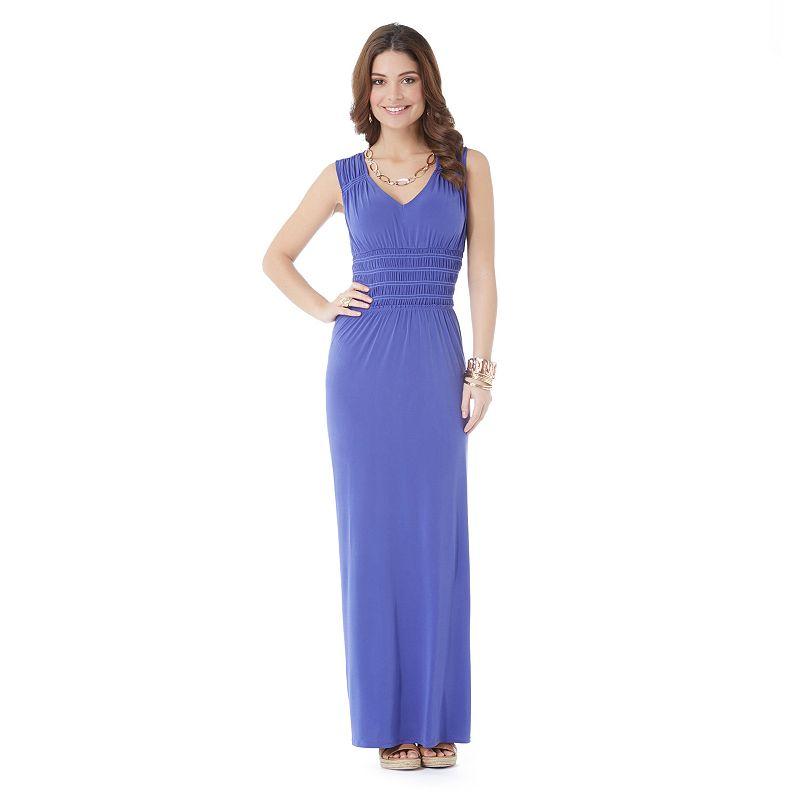 Daisy Fuentes solid maxi dress