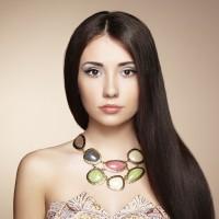 Modern Gemstone Necklace